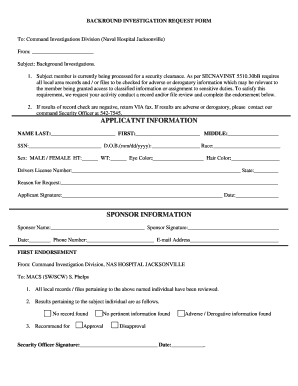 free background check form template - Edit, Fill, Print & Download ...