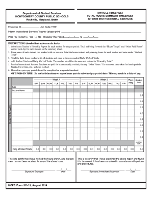 payroll form for teachers