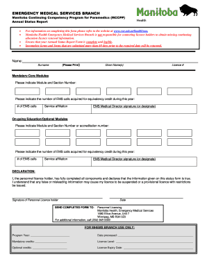 Fillable Online MCCPP Annual Status Report Form Fax Email