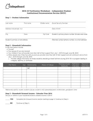 Worksheets Dependent Verification Worksheet institutional verification worksheet form fill online printable worksheet