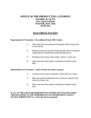 Bad Check Packet - Wayne County Prosecutor
