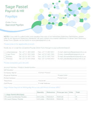 Order Form Approved Payslips - Sage Pastel Payroll & HR - pastelpayroll co