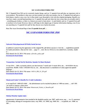 Mc13 Spanish - Fill Online, Printable, Fillable, Blank   PDFfiller