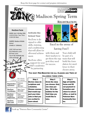 Madison Spring Term - School Web sites hosted by Eugene School bb - schools 4j lane