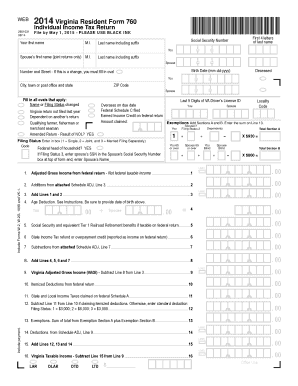 Tax Form 760 - Virginia Department of Taxation