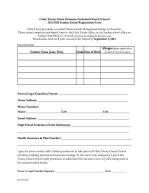 photo regarding Printable Church Nursery Forms referred to as 132 Printable Sunday University Registration Kind Templates