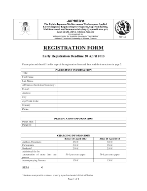 Registration form in .pdf - Japmed8 - japmed8 ntua