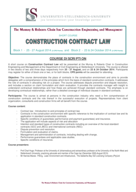 Construction contract law - Civil Engineering