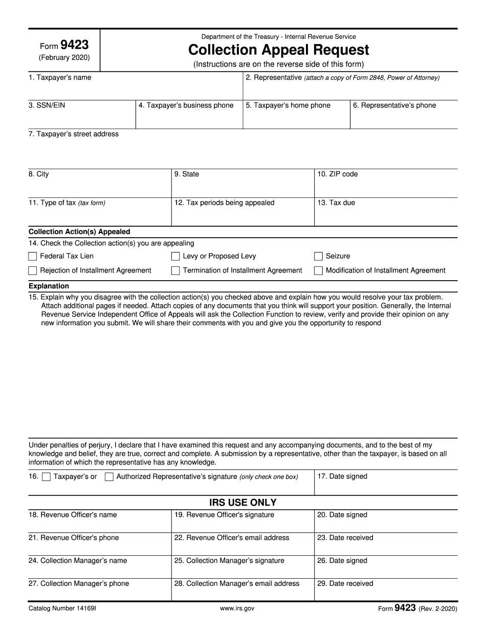 where to mail form 9423