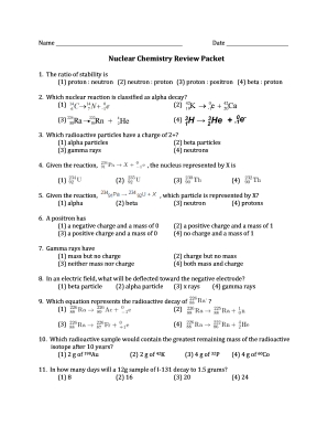 Nuclear chemistry review