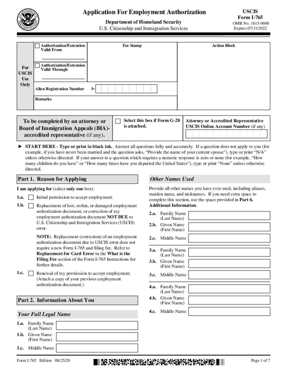 Form I-765