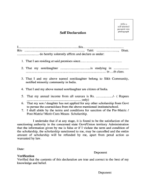 Affidavit for birth certificate in india forms and templates self declaration form in punjabi language yadclub