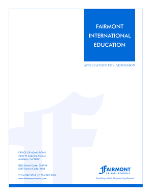 FAIRMONT INTERNATIONAL EDUCATION - Fairmont Private Schools