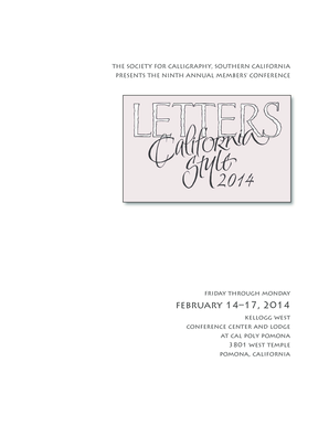 February 14 17, 2014 - Society for Calligraphy - societyforcalligraphy