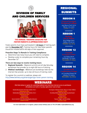 2014 Foster Parent Training Schedule - Bethany Christian Services - bethany