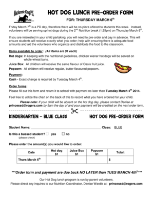 Fillable Online mck wrdsb THURSDAY MARCH 6 ***Order form and payment on party order form, hamburger order form, clam chowder order form, sushi order form, ice cream cake order form, pretzel order form, juice order form, pizza order form, food order form, banana order form, muffin order form, turkey order form, bun order form, baked potato order form, meat order form, cookies order form, pumpkin order form, bagel order form, bbq order form, nachos order form,