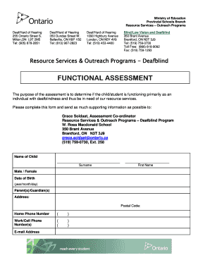 Functional Assessment Referral Form