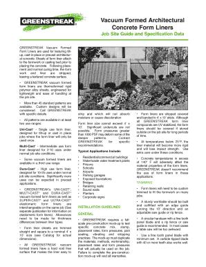 Greenstreak Form Liner - Fill Online, Printable, Fillable, Blank ...