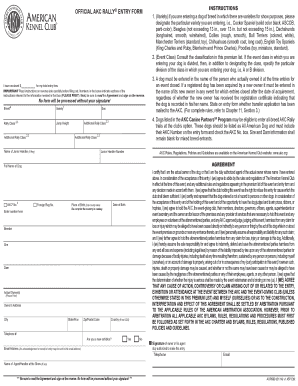 Fillable Online images akc OFFICIAL AKC RALLY ENTRY FORM ...