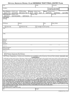 Fillable Online images akc AKC Herding Test/Trial Entry Form ...