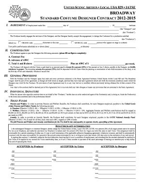 standard employment contract Forms and Templates - Fillable ...
