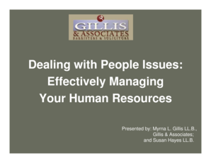 Effectively Managing Your Human Resources - Lawyer39s Insurance bb