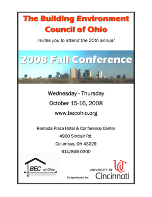 08 Conf Brochure.pub - The Building Environment Council of Ohio - becohio