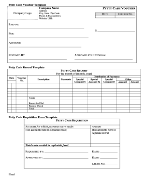 photograph relating to Printable Cash Count Sheet identified as petty hard cash depend sheet template - Edit Fill Out Supreme On the net