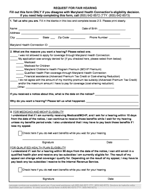 Maryland Health Connection Application Pdf