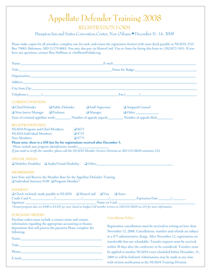 ADT 2008 Registration Form - nlada