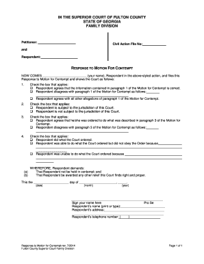 how to file a contempt of court motion - Forms & Document Templates