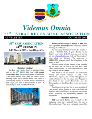 Fillable Online STRAT RECON WING ASSOCIATION Fax Email Print