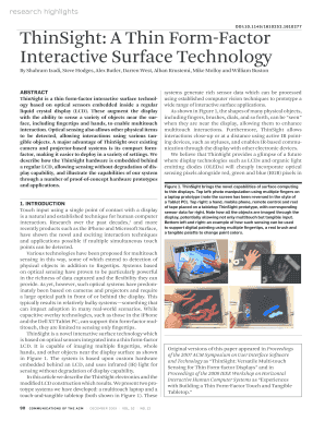 A thin form-factor interactive surface technology - Microsoft Research