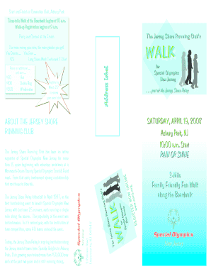 Jersey Shore Walk brochure2.indd - Jersey Shore Running Club - jsrc
