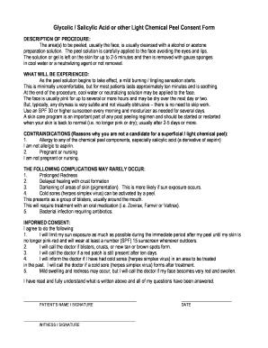 Fillable Online vegasdermatology Glycolic / Salicylic Acid or ...