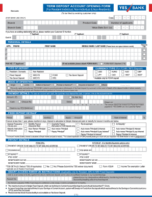 yes bank online diposite slip form