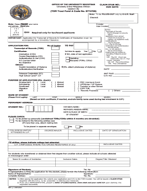 Application Form For Graduation - Fill Online, Printable, Fillable ...