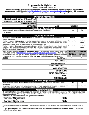 ridgetop jr high sports medical paper form