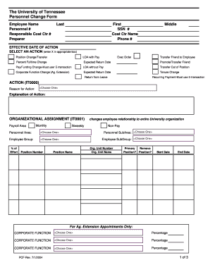 editable personnel action form template excel fill out best