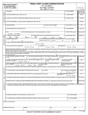 Bill Of Sale Form California Employers Report Of Occupational ...