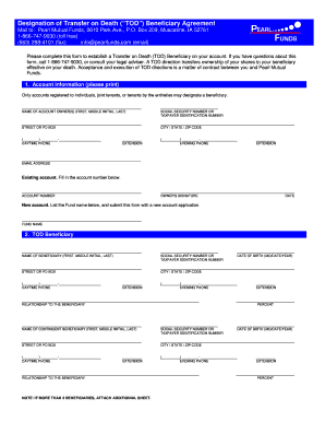 Download Designation Of Transfer On Death Form Pearl Mutual Fill Online Printable