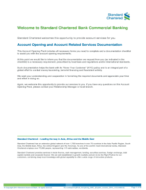 Company Account Opening Form - Standard Chartered Bank