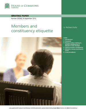 Members and Constituency Etiquette PDF 14 bb - Parliament UK - parliament