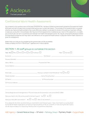 Construction Risk Assessment Report Sample. Confidential Work Health  Assessment   General Medicine Group