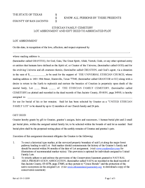 Individual Plot Assignment in shared lot document pdf - ethicianfamilycemetery