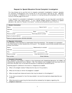 Fillable Online Formal Complaint Form - Louisiana Department of ...