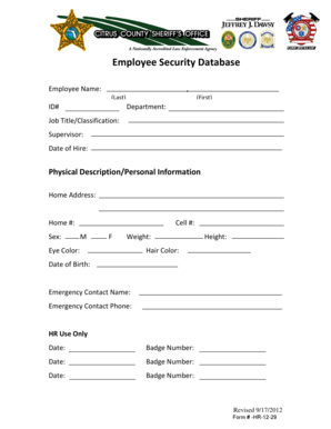 136 printable employee emergency contact form templates fillable