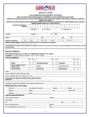 21 Printable Bsa Medical Form Templates - Fillable Samples