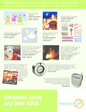 Fillable Online practicalaction Practical Action Christmas Cards and ...