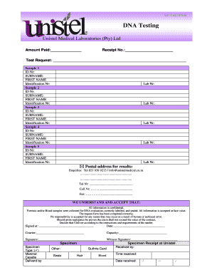 Unistel Results Template Fill Online Printable Fillable Blank